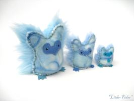 Ice Owl Family by Lithe-Fider