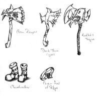 Axes and Equipments by Saldarax