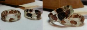 Copper and Brass Rings by AlyaFenume
