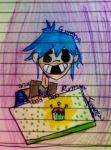 2D and the Cupcake by GPopcorn4Food