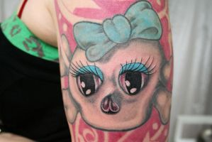 Girly skull eyes Tattoo by 2Face-Tattoo