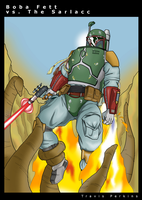 Boba Fett vs. The Sarlacc by TravisTheGeek
