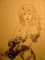 Red Sonja Sketch III by CorpseWater