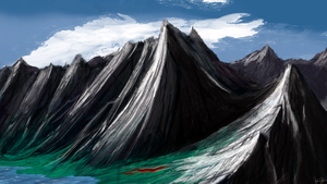 Some mountain range by Brony2you