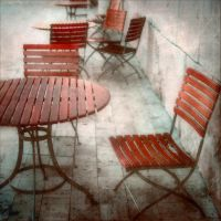 Red Seating by myrnajacobs
