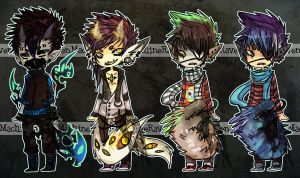 Adopts Set - Monster Boys 3 [CLOSED] by MachineRaven