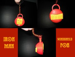 Iron Man Windshield Fob by OrionSTARB0Y