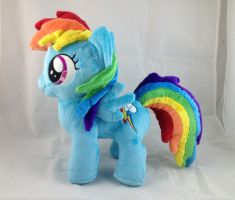 Rainbow Dash filly plush by LiLMoon