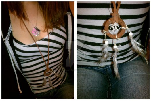 Dream Catcher Necklace by candyapplesex