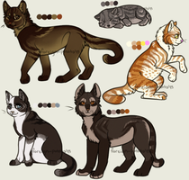 Feline Adoptables by TheCalicoTabby