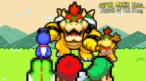 SMBHotS Boss 01 - Bowser, Boshi and Bowser Jr by KingAsylus91