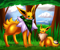 ''Two Jolteons'' by Theoluma