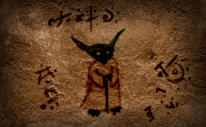 Yoda Cave Drawing by ThrowDownYourHat