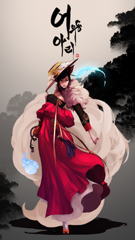 The Joseon Dynasty 'Gisaeng' Ahri by dutomaster