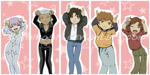 Wolf's Rain Bookmarks by SSJMihoshi