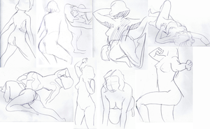 Gesture Figures by Limelight-Night