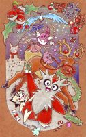 Merry Pokemon Christmas by tavington