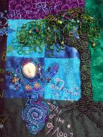 Beaded Goddess Tapestry Detail by jardan