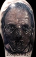 Hannibal Lecter Tattoo by LizCookTattoo
