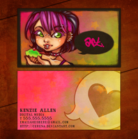 You Heard Her -- business card by cerena