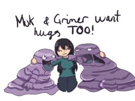 Grimer and Muk Hugs by dizzyrin