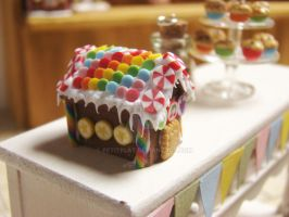Rainbow Gingerbread House 1 by PetitPlat
