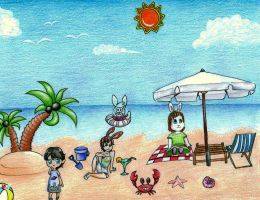 Beach Party~!!^^^ by Sarang-Lee