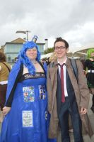 MCM Expo 2013 The Tardis and her Doctor by Lady-Avalon