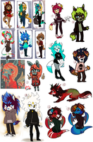 Big Adoptable Sale ( 100 - 600 pts ) by thatWeasel