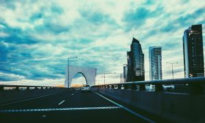 Melbourne Skyies and Highway by VladRomero