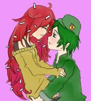 Flippy and Flaky (Happy Tree Friends) by MahhHappy