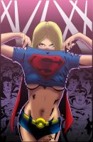 Supergirl coloured by Hump3
