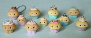 Cupcake Charms by RawrRufus