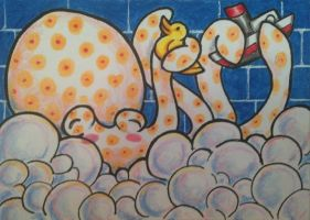 ACEO: Tub Time by DanielleMWilliams