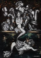 Fable of The Mermaid and The Drunks by AliceNACT