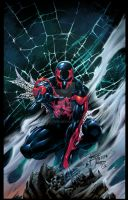 Spider-Man 2099 colors by spidey0318