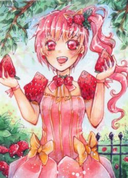 aceo 144 strawberrygirl by MIAOWx3