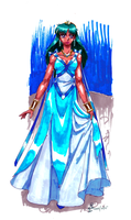 Cosmic Background: Princess-Consort Athene by AmethystSadachbia