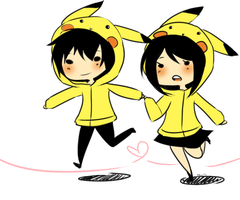Pikachu Couple by djchungy