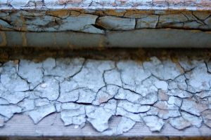 peeling paint chips by JensStockCollection