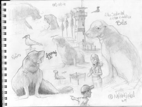pier 39 sketches by n8gee