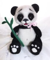 panda bear by WoolArtToys