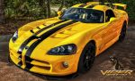 Yellow Dodge Viper SRT 10 by pingallery