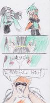 Miku and FL fight... mating? by Streled