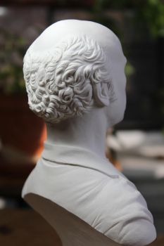 Larry David classical bust (hair detail) by CG-imagery