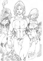 _StarGirl,PowerGirl and SuperGirl by JardelCruz
