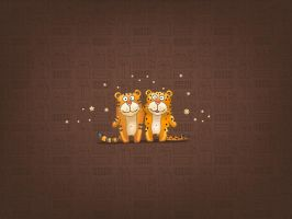 Funny Little Tigers by LinuxEvolution