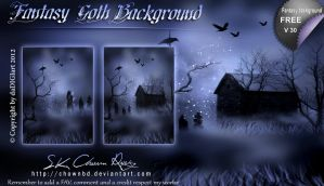 Fantasy Goth Background by DIGI-3D