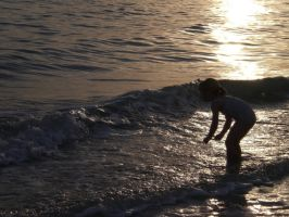 Little Girl In The Waves by cerulean-stock