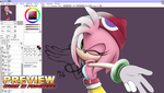 Sonic Runners - Amitie-Style Amy preview by RGXSuperSonic